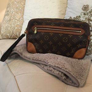 LOUIS VUITTON Marly Dragonne GM Clutch Bag